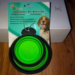 BRAND NEW  Pet Bowl Set Collapsible (2 bowls)